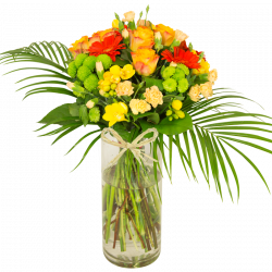 Bouquet jaune orange Aurore
