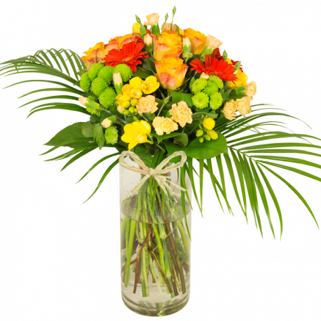 Bouquet de fleurs jaune orange