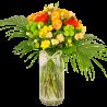 Bouquet de fleurs jaune orange