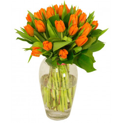 Bouquet de tulipes oranges
