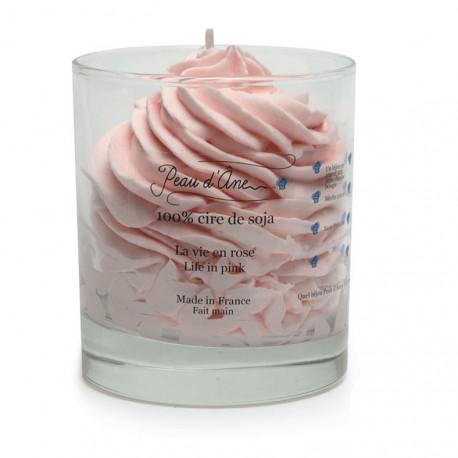 Bougie Chantilly avec Bijou, Senteur La vie en rose