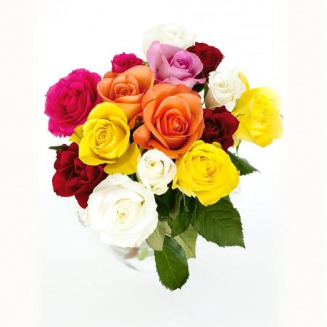 Bouquet de roses rouges gros boutons