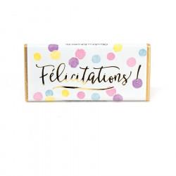 Tablette de chocolat Félicitations