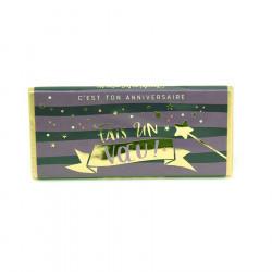 Tablette de chocolat C'est ton anniversaire fais un voeu