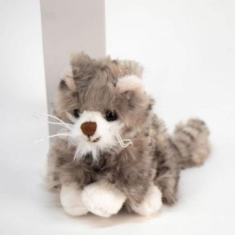 Porte-clé peluche chat gris