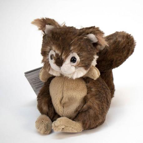 Porte-clé écureuil marron en peluche