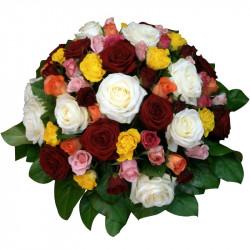 Coussin de Roses- deuil