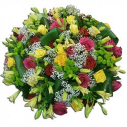 Composition florale ronde-deuil