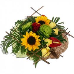 Bouquet Rond Soleil d'été