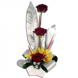Composition Florale Argentée