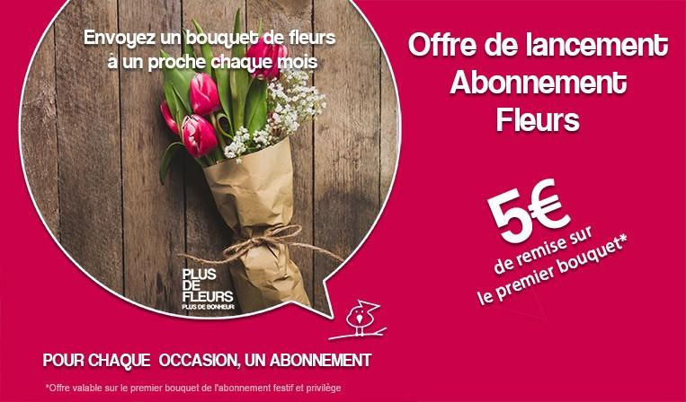 lancement offre abonnement fleurs