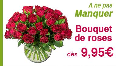 Bouquet de roses dès 9,95€